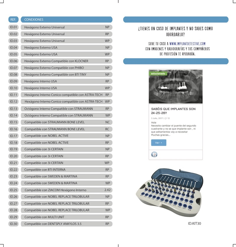 Conexiones caja de verificación IMPLANT DETECTIVE